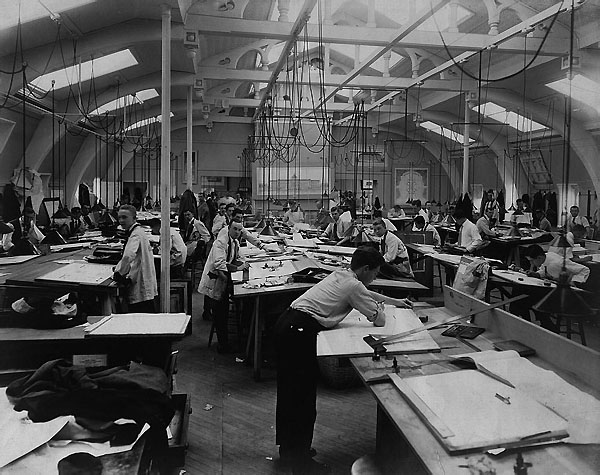 Drafting Room Ca 1935 Art Of Manual