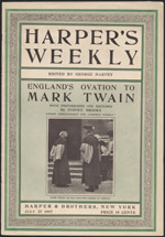 Magazine article on motivational humorous speaker Mark Twain